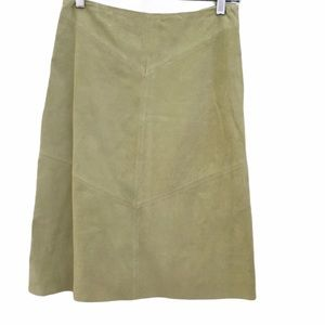 Banana Republic Suede Skirt in Light Green Size 0